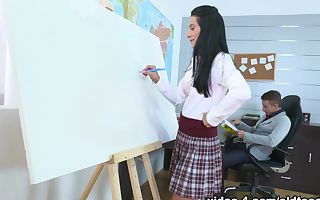 TrickyOldTeacher - Simona and her tricky old teacher have awesome xxx sex after class