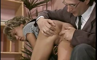 Vintage teen pornography with a lean blonde huge-chested
