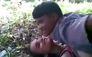 Desi Bangla cutie Jungle Gangbang
